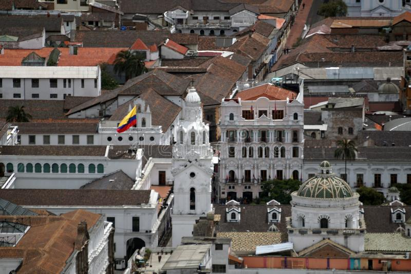 Overhead view of Quito Presidential Palace royalty free stock photography