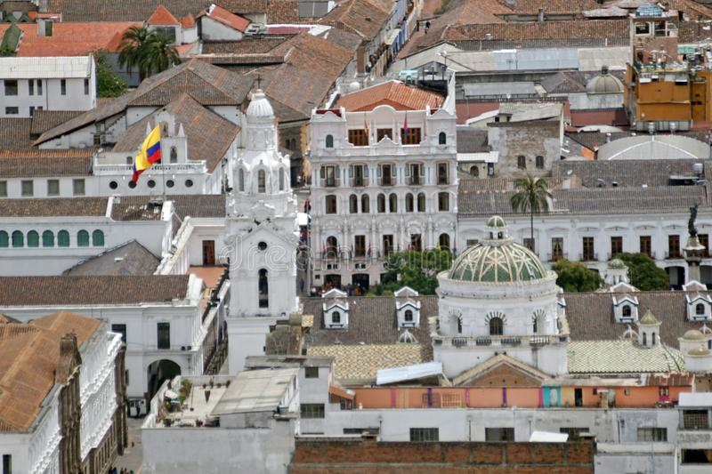 Overhead view of Quito Presidential Palace royalty free stock photo