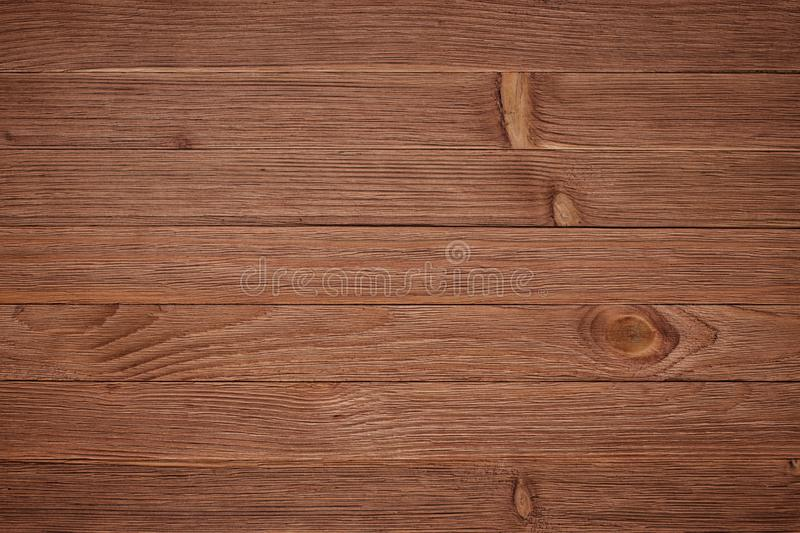 Overhead view of wooden table, background texture royalty free stock photography