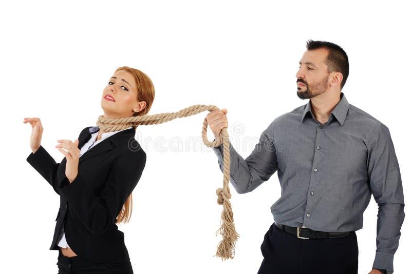 Overheersende werkgever stock afbeelding