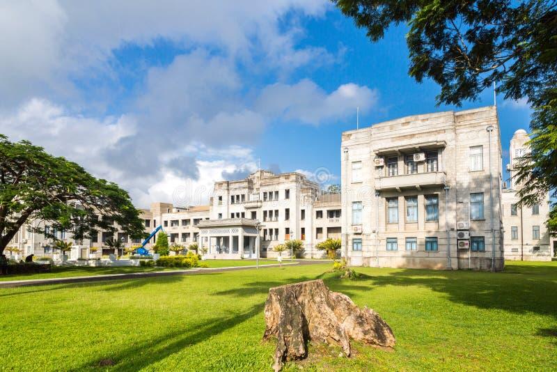 Overheidsgebouwen Eerste minister Office Hoge rechtsinstantie, ministeries, het Parlement Melanesia, Oceanië, Zuid-Pacifische Oce royalty-vrije stock foto