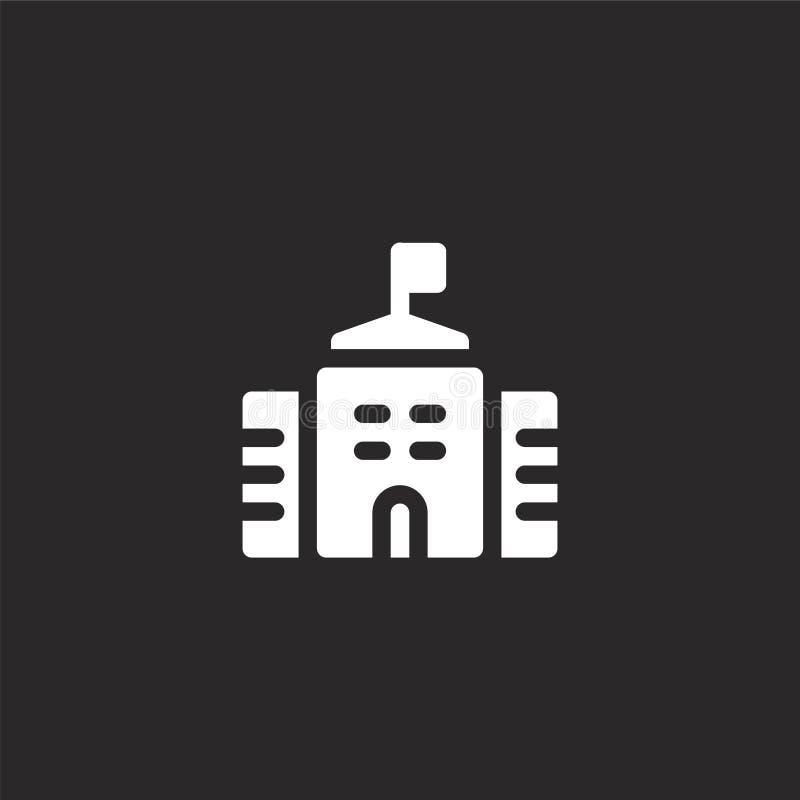 overheidspictogram Gevuld overheidspictogram voor websiteontwerp en mobiel, app ontwikkeling overheidspictogram van de gevulde st royalty-vrije illustratie