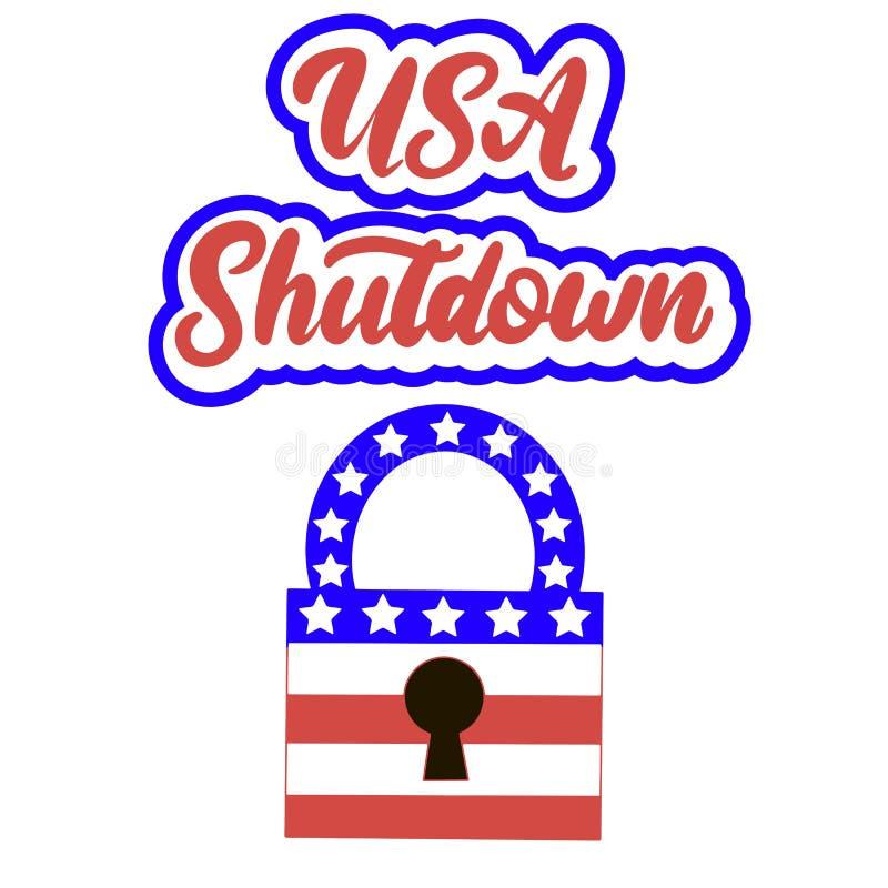 Overheidssluiting in de Verenigde Staten royalty-vrije illustratie