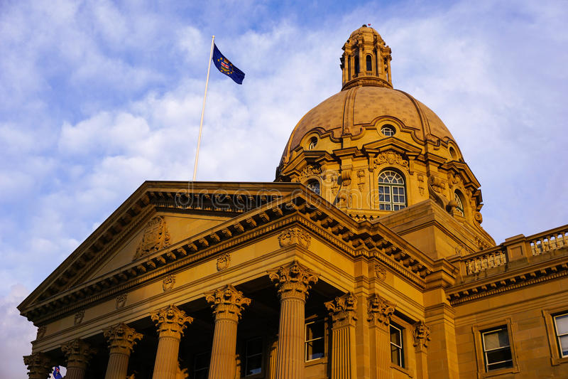 Overheidswetgevende macht die Edmonton bouwen royalty-vrije stock foto's