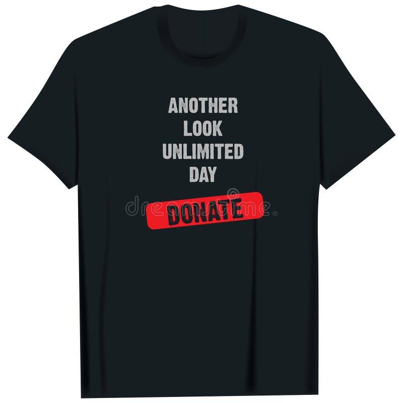 Overhemd met vraag naar schenking vector illustratie