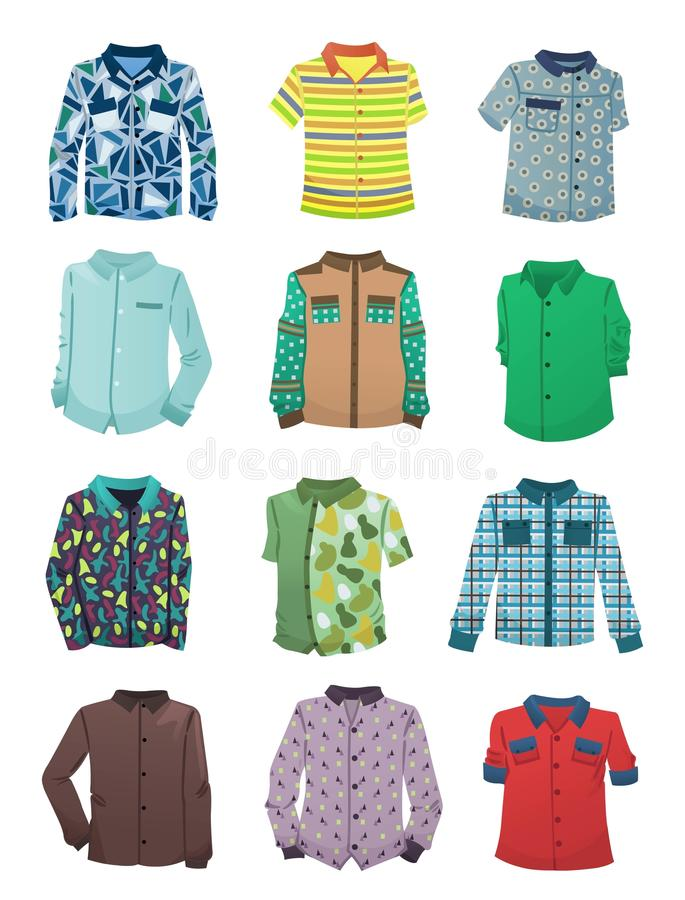 Overhemden voor jongens vector illustratie