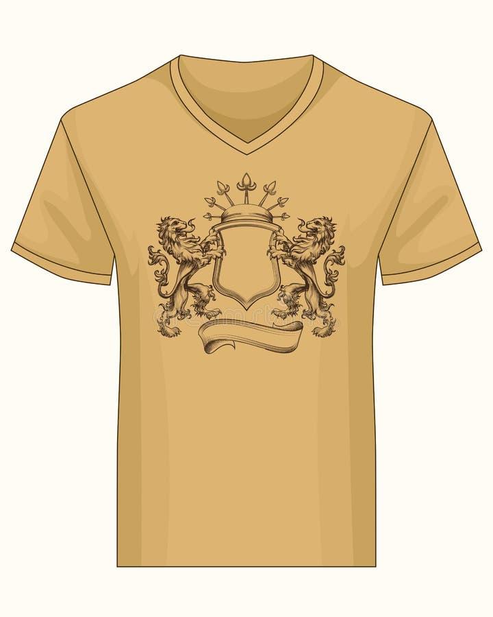 Overhemdsmalplaatje met wapenkundelaag van bekendheid royalty-vrije illustratie