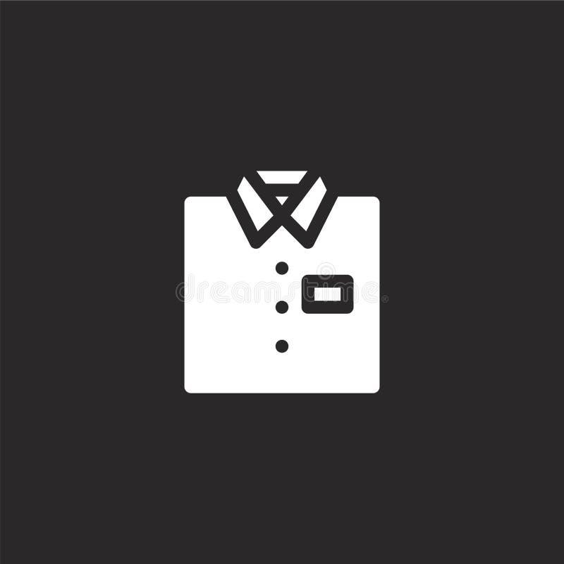 Overhemdspictogram Gevuld overhemdspictogram voor websiteontwerp en mobiel, app ontwikkeling overhemdspictogram van gevulde geïso royalty-vrije illustratie