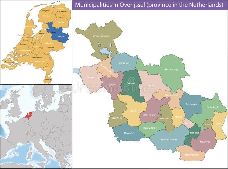 Overijssel jest prowincją holandie royalty ilustracja