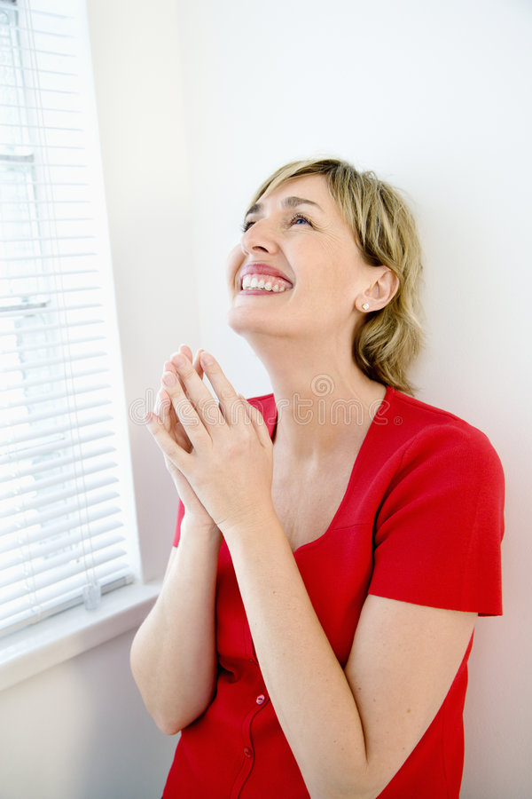 Download Overjoyed woman. stock image. Image of happiness, smile - 5034209
