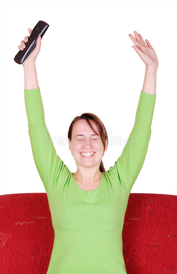 Download Overjoyed young woman stock image. Image of happy, cheer - 10629589