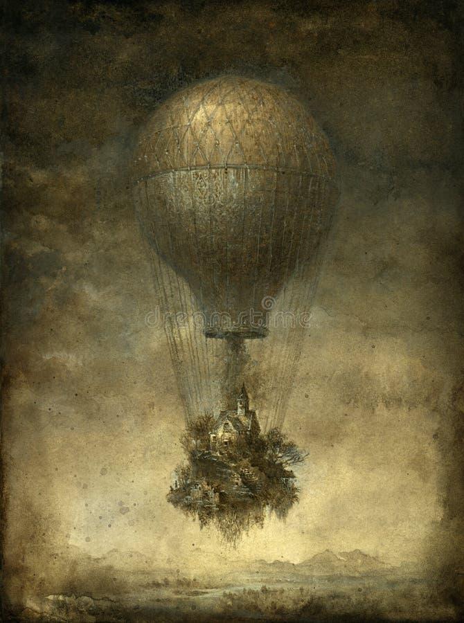 overklig ballong royaltyfri illustrationer