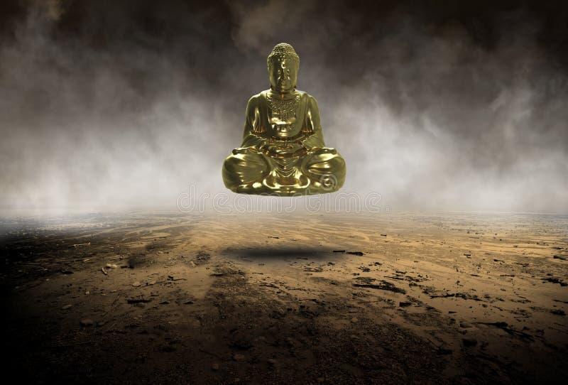 Overklig Buddha, Buddist, buddism, staty, religion fotografering för bildbyråer