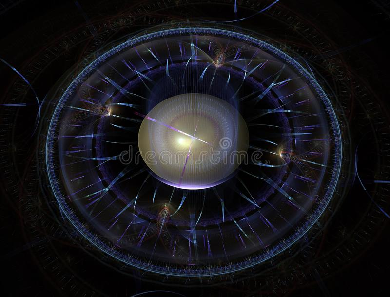 Overklig futuristisk modern abstrakt fractal för klockaklocka Ovanlig abstrakt bakgrund för texturmodellfractal Modernt stilfullt vektor illustrationer