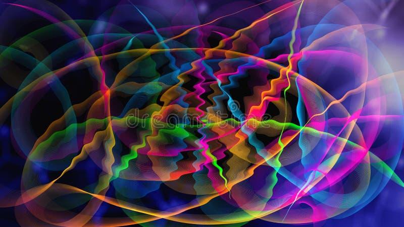 overklig illustration 3D sakral geometri Mystisk psykedelisk avkopplingmodell royaltyfri illustrationer