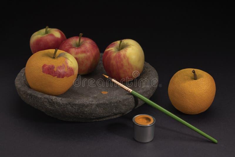 Overklig stilleben av frukt royaltyfri foto