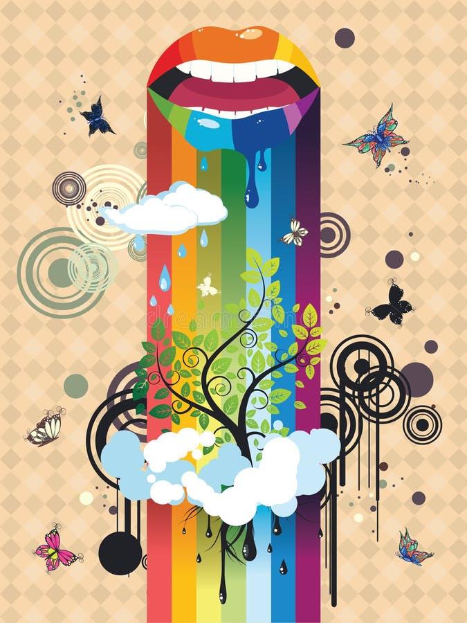 Overklig Tree vektor illustrationer
