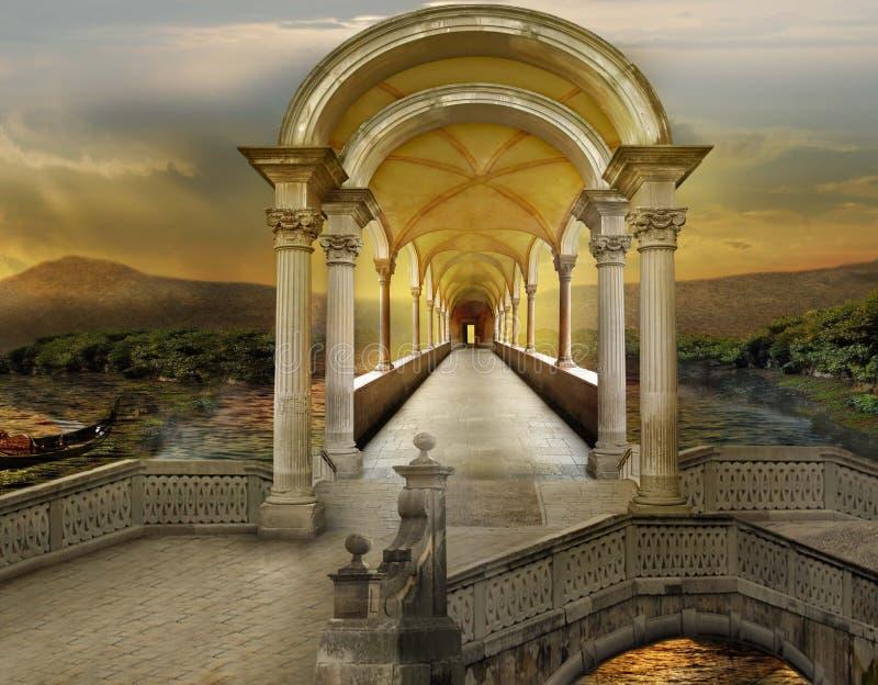 Overklig tunnel royaltyfri bild
