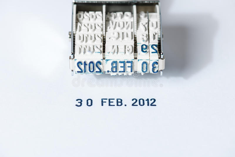 overkligt datum arkivbild