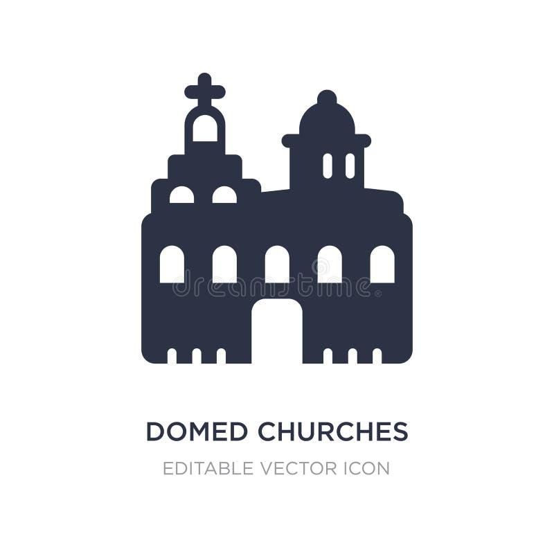 overkoepeld kerkenpictogram op witte achtergrond Eenvoudige elementenillustratie van Monumentenconcept stock illustratie