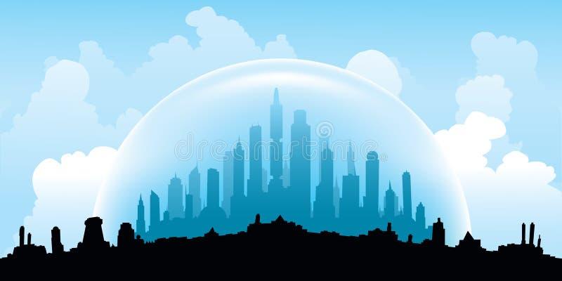 Overkoepelde Stad vector illustratie