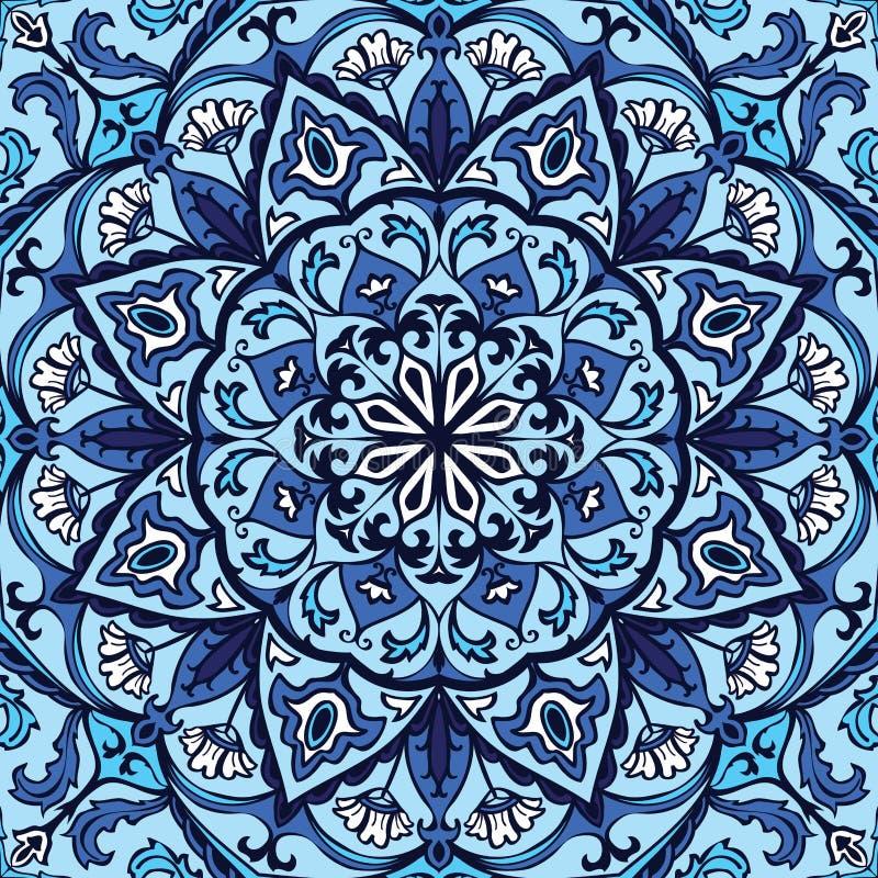 Overladen blauw patroon vector illustratie