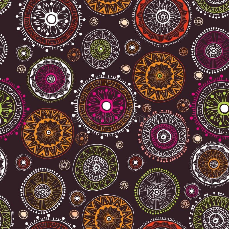 Overladen bloemen naadloos patroon met bloemen stock illustratie