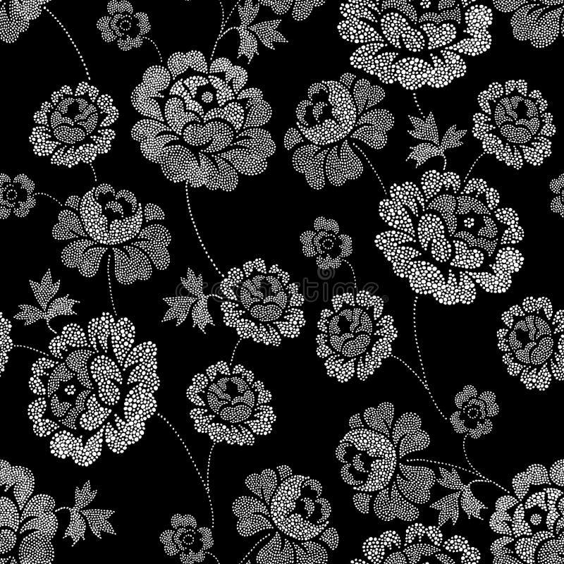 Overladen bloemen van de vlek royalty-vrije illustratie