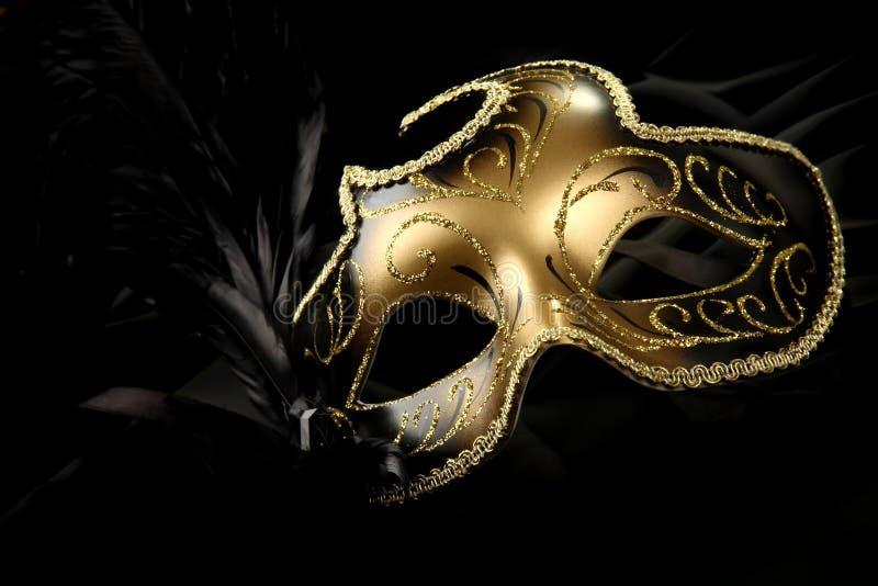 Overladen Carnaval masker stock foto's