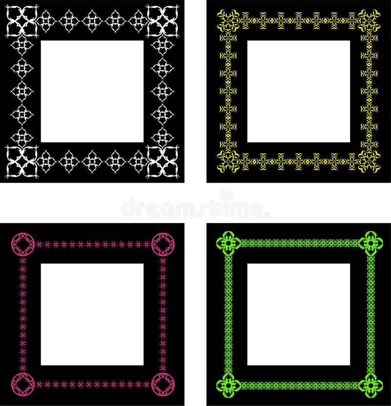 Overladen frames royalty-vrije illustratie