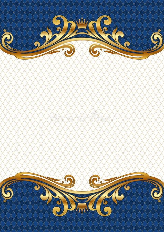 Overladen gouden frame vector illustratie