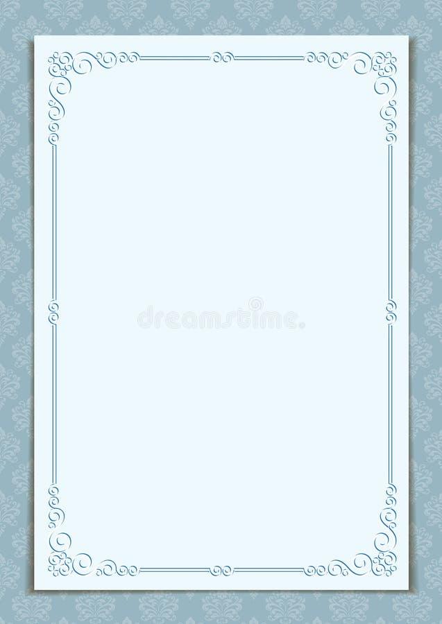 Overladen grens op Victoriaanse stijl naadloze achtergrond royalty-vrije illustratie