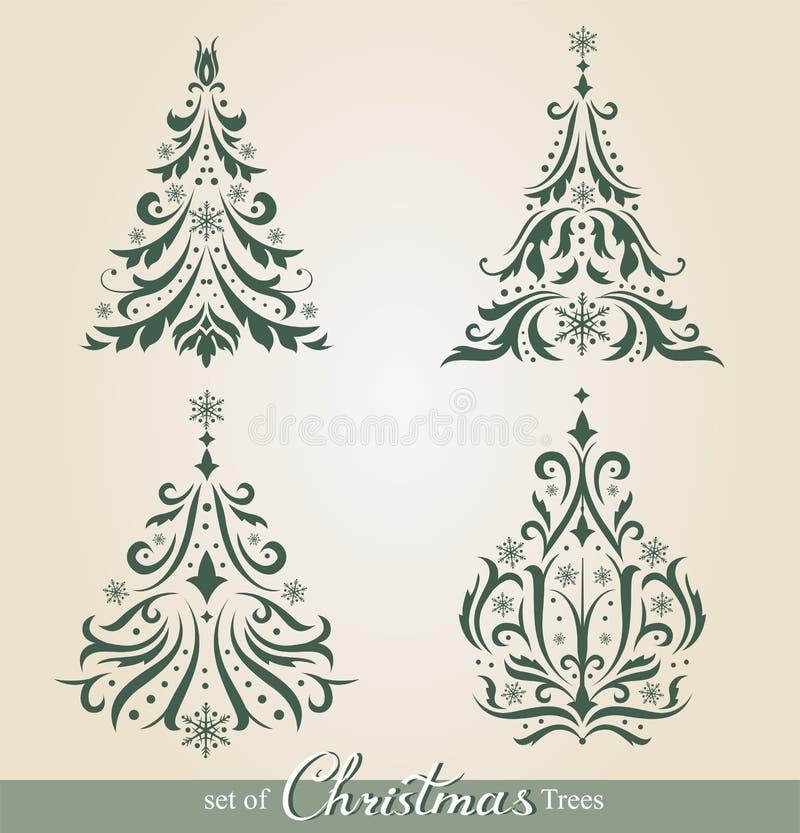 Overladen Kerstbomen vector illustratie