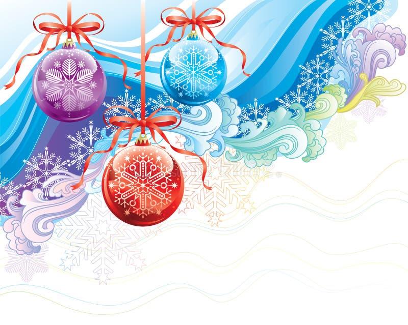 Overladen Kerstmis royalty-vrije illustratie