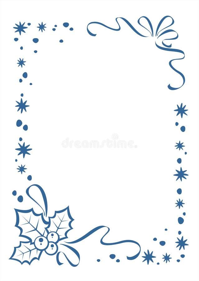 Overladen Kerstmisgrens vector illustratie
