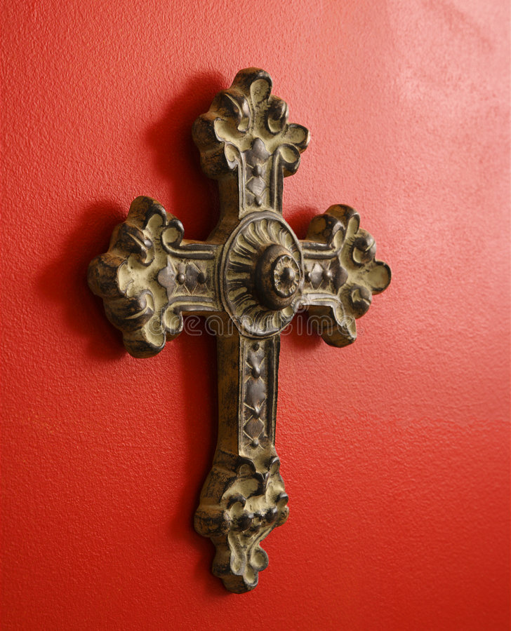 Overladen kruis. stock afbeeldingen