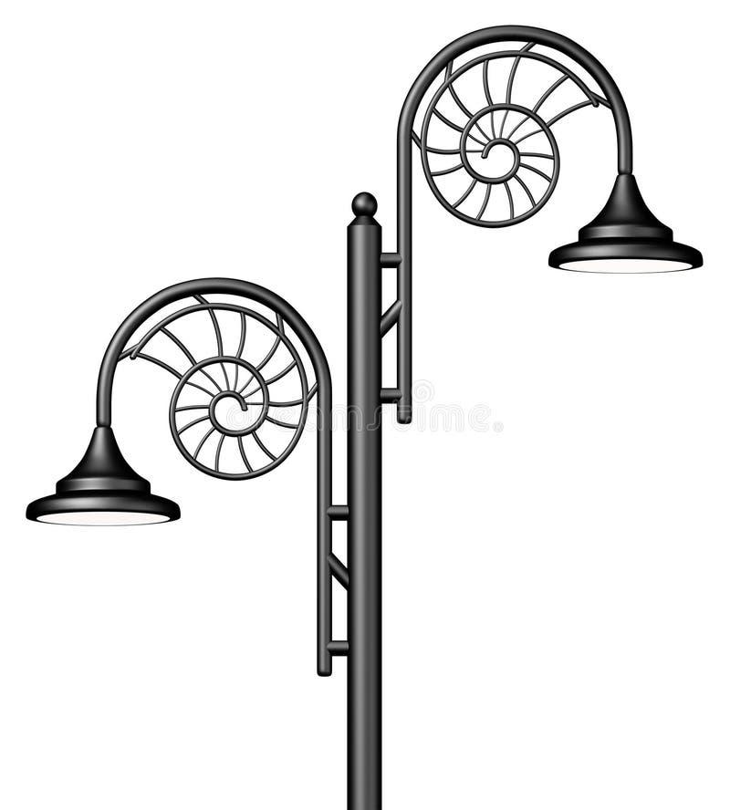 Overladen lampPost stock illustratie