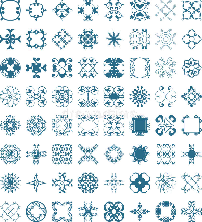 Overladen ontwerpen stock illustratie