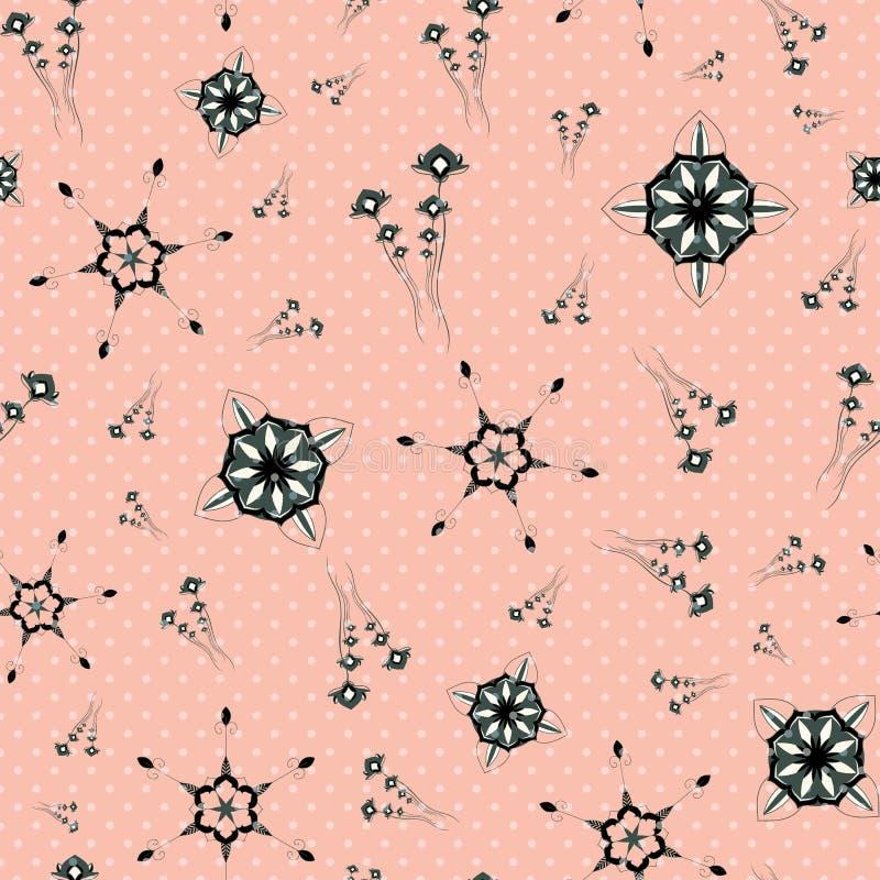OVERLADEN PATROON MET BLOEMENelementen vector illustratie