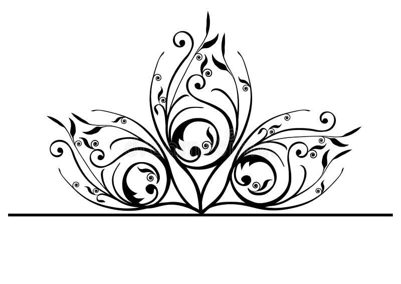 Overladen pauwveren vector illustratie