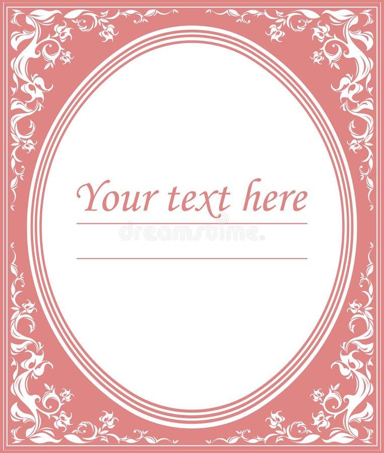 Overladen roze kaderdecoratie met ruimte voor tekst vector illustratie