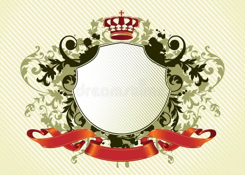 Overladen schild royalty-vrije illustratie