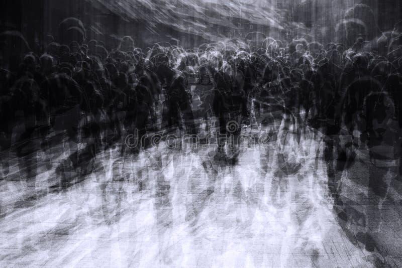 Overladen stad op zwarte vrijdag stock afbeeldingen