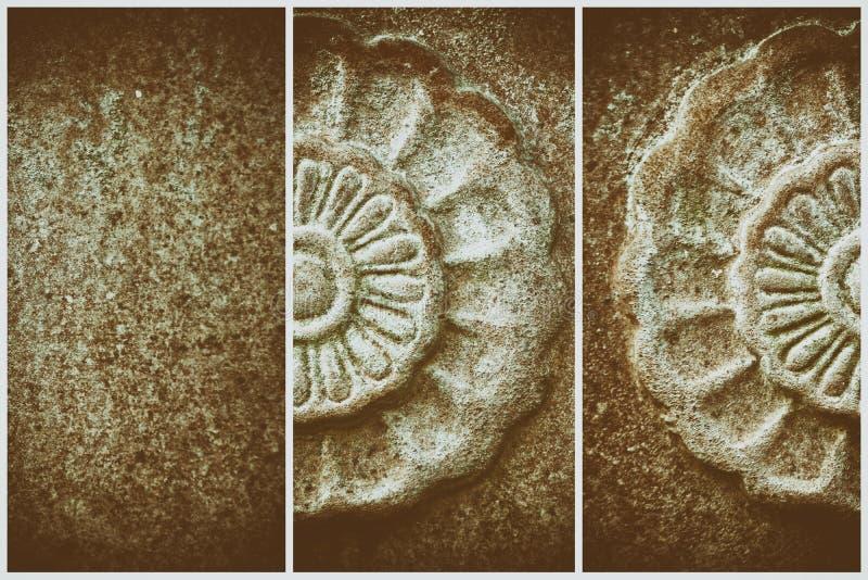 Overladen steentextuur, de vorm van de cirkelrots, achtergrond voor website of mobiele apparaten royalty-vrije stock afbeeldingen