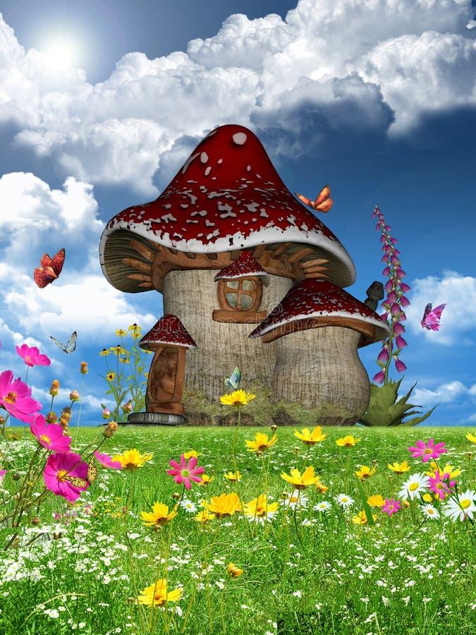 Overladen tuin royalty-vrije illustratie