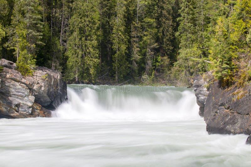 Overlander spadków góry Robson prowincjonału park obrazy royalty free