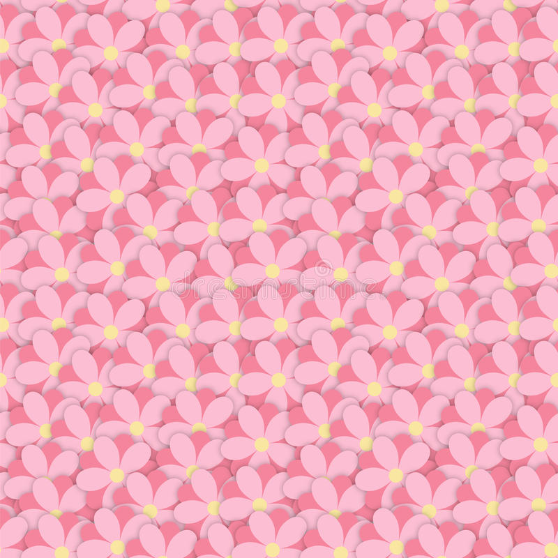 Overlap Flowers. Overlap cute pink seamless floral pattern flowers royalty free illustration
