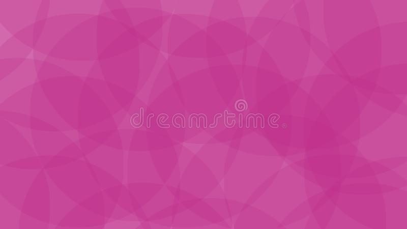 Overlaping circle background. pink color. Simple design stock illustration