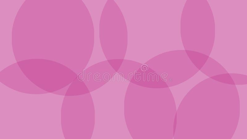 Overlaping circle background. pink color. Simple design royalty free illustration