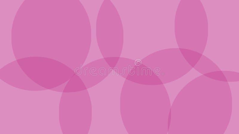Overlaping cirkelbakgrund Rosa f?rg enkel design royaltyfri illustrationer